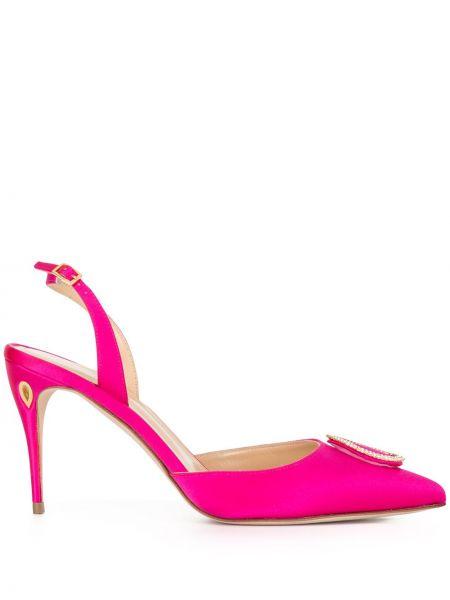 Открытые розовые туфли с ремешком с открытой пяткой Jennifer Chamandi