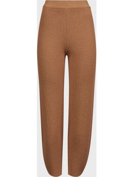 Шерстяные коричневые брюки Kontatto