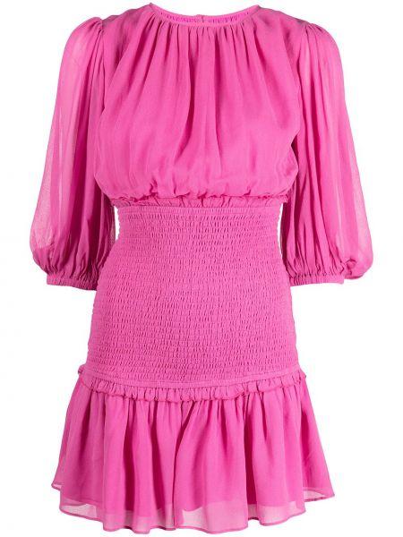 Różowa sukienka z wiskozy Cynthia Rowley