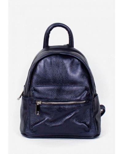 Кожаный рюкзак - синий Bella Bertucci