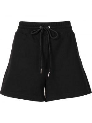 Хлопковые черные спортивные шорты с завязками Dion Lee