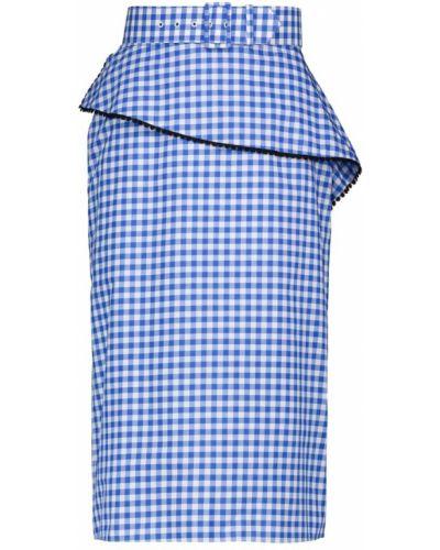Ciepła niebieska spódnica midi bawełniana Rodarte