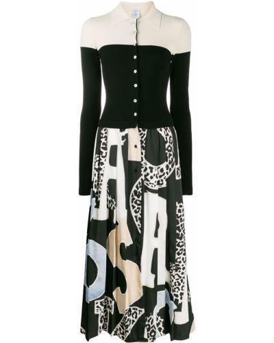 Платье миди на пуговицах с длинными рукавами Sara Roka