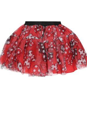 Красная юбка из фатина Monnalisa
