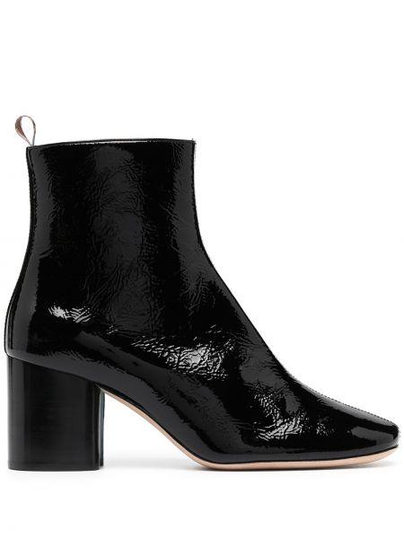 Черные кожаные сапоги на шпильке на каблуке Paul Smith