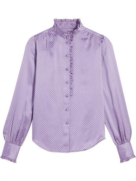 Шелковая с рукавами рубашка с высоким воротником Marc Jacobs