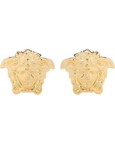 Золотые серьги жёлтые серьги-кольца Versace