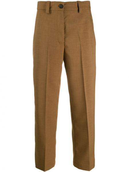 Укороченные брюки с карманами с поясом Erika Cavallini