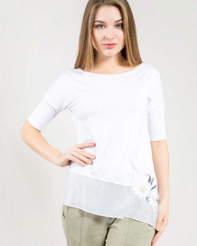 Белая блузка с длинными рукавами Maxa