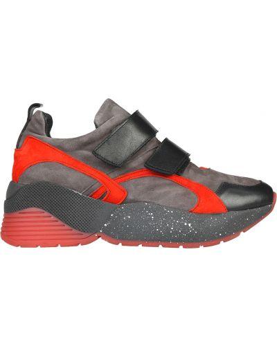 Кожаные кроссовки - серые L'estrosa