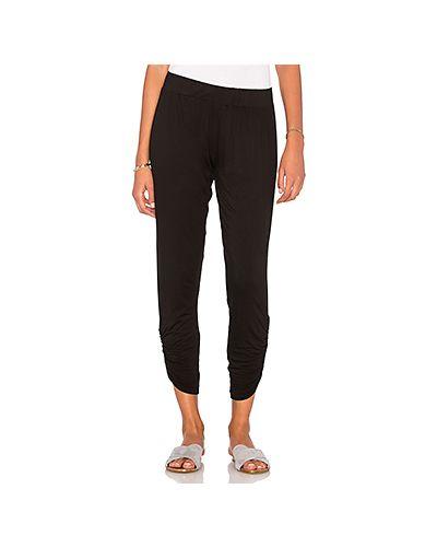 Шелковые черные брюки на резинке со складками Michael Lauren