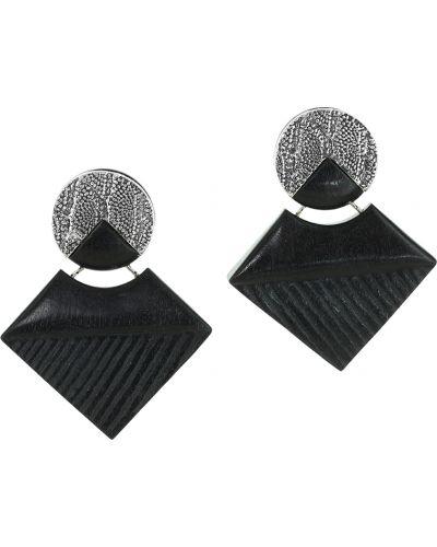 Клипсы с камнями - черные Nature Bijoux