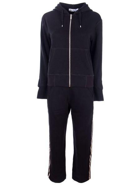 Черный спортивный костюм с поясом на молнии Dirk Bikkembergs