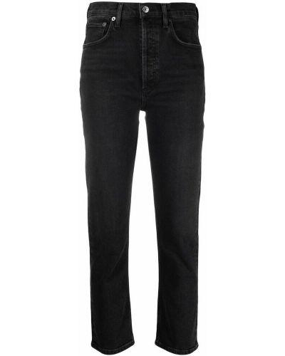 Czarne mom jeans Agolde