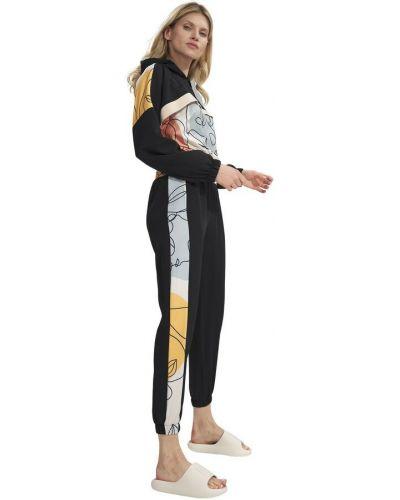 Czarne spodnie sportowe Figl