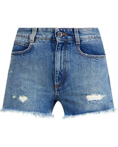 Джинсовые шорты с бахромой короткие Stella Mccartney