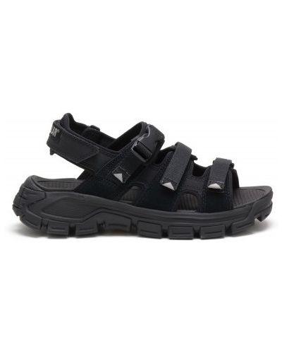 Черные кожаные сандалии с пряжкой Caterpillar