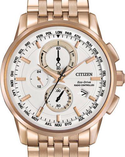 Часы водонепроницаемые белые серые Citizen