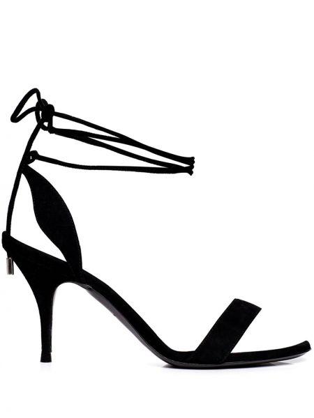 Czarne sandały skorzane Tabitha Simmons