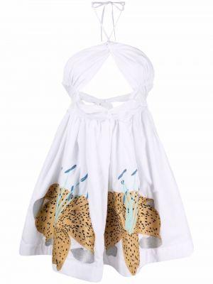 Хлопковое платье мини - белое Yuliya Magdych