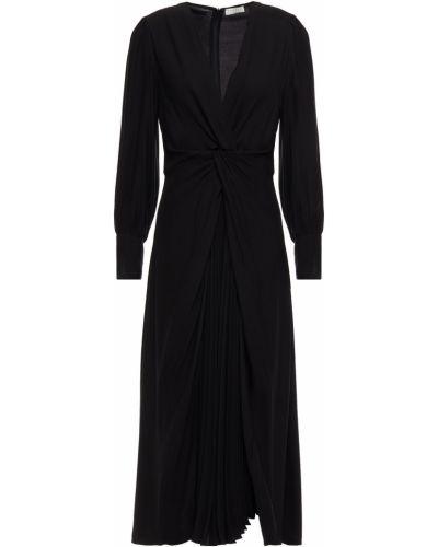 Платье миди на пуговицах - черное Sandro