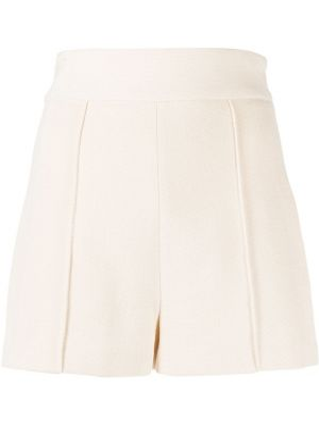 Короткие шорты с завышенной талией бежевые Elisabetta Franchi