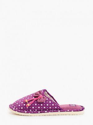 Текстильные фиолетовые домашние тапочки Smile Of Milady