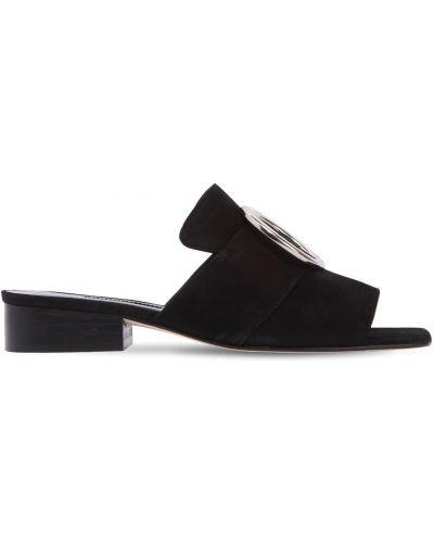 Czarne sandały skorzane klamry Dorateymur
