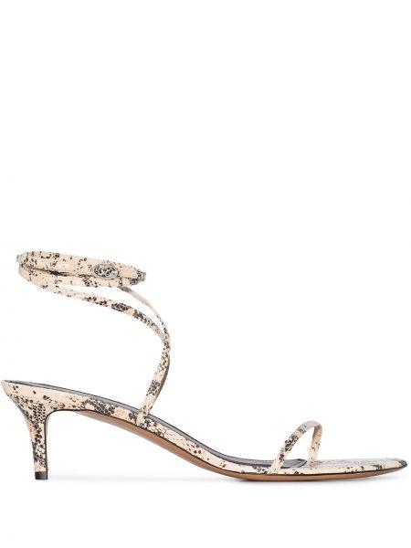 Sandały skórzany z klamrami Isabel Marant