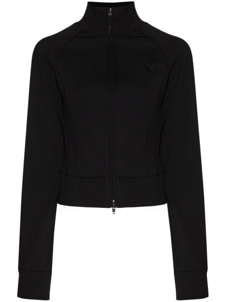 Черная спортивная куртка на молнии с воротником Y-3