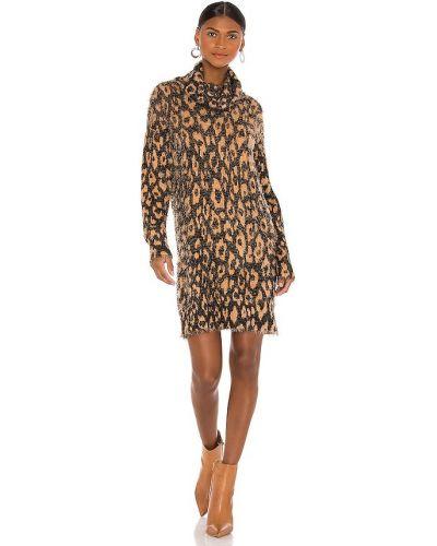 Коричневое платье с декольте с манжетами Show Me Your Mumu