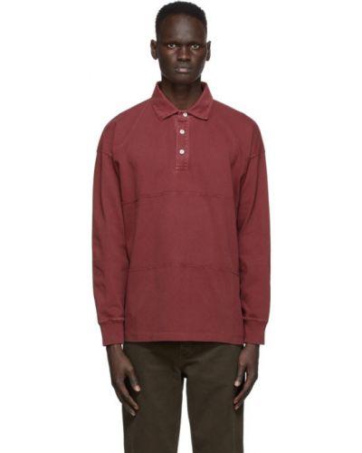 Красная рубашка с воротником с манжетами с длинными рукавами Schnaydermans