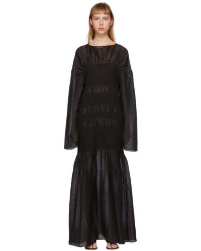 Платье макси с отложным воротником шелковое Toteme