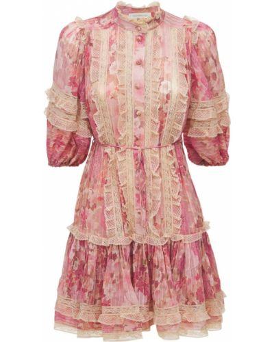 Бежевое платье на пуговицах Zimmermann