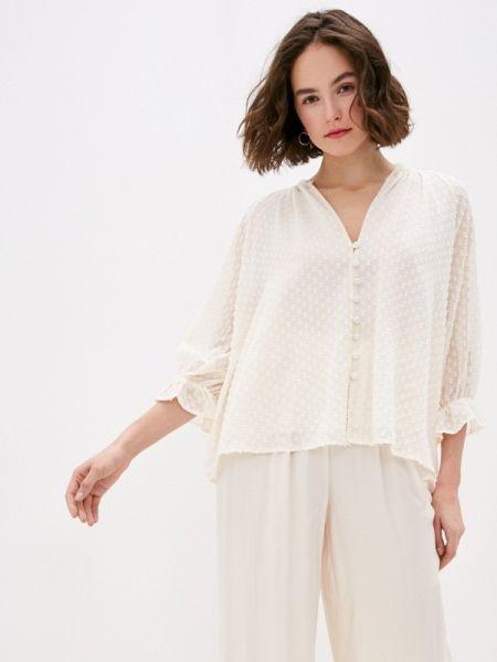 Блузка с длинным рукавом весенний бежевый Miss Miss By Valentina
