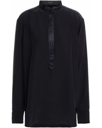 Satynowa czarna koszula zapinane na guziki Rag & Bone