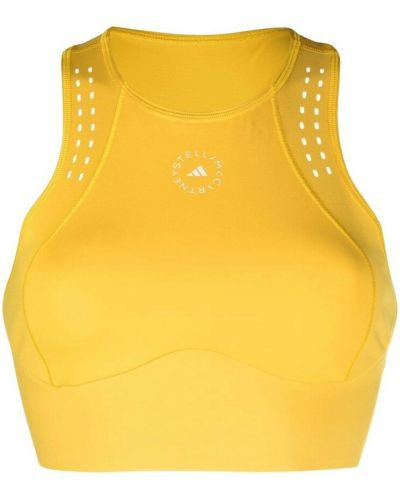 Żółta crop top Adidas By Stella Mccartney