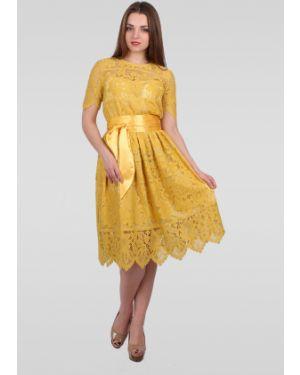 Платье с поясом с декольте платье-сарафан Lila Classic Style