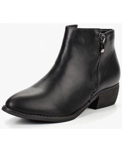 Кожаные ботильоны осенние на каблуке Sweet Shoes