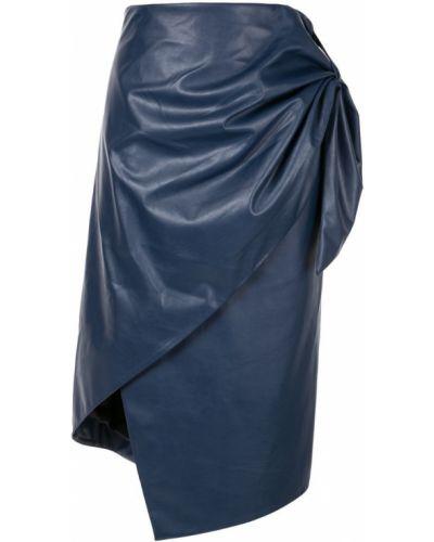 Синяя юбка миди в рубчик Bianca Spender