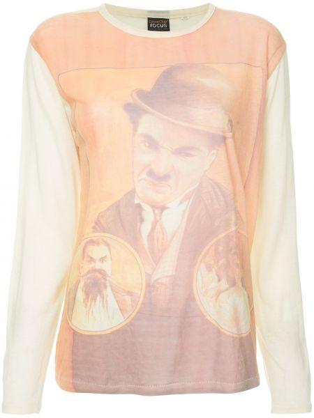 Свободная джинсовая рубашка винтажная с запахом Fake Alpha Vintage