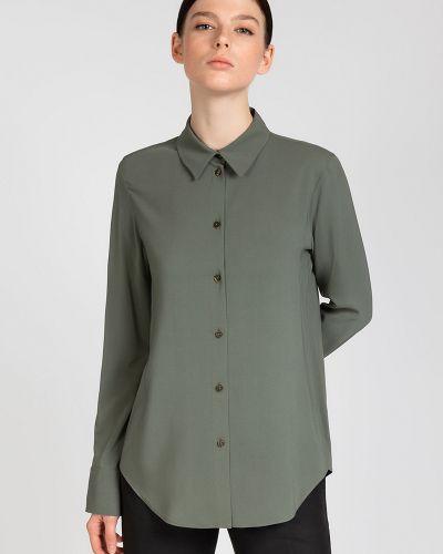 Блузка зеленый классическая Vassa&co