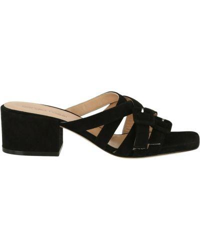 Czarne sandały zamszowe Sergio Rossi