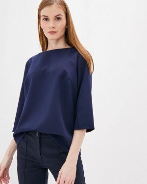 Блузка с длинным рукавом синяя Maurini