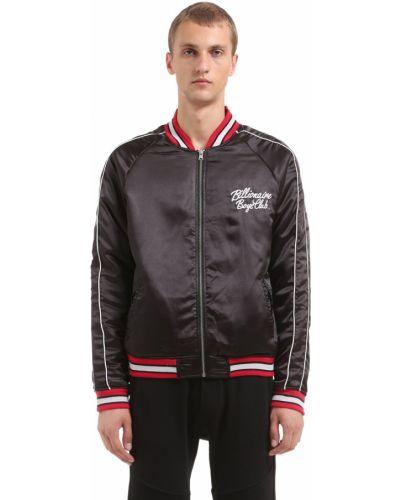 Czarna kurtka z haftem w paski Bbc-billionaire Boys Club