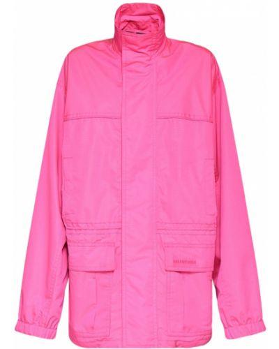 Kurtka z haftem - różowa Balenciaga