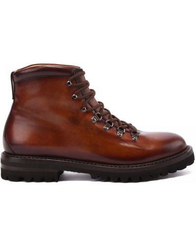 Коричневые кожаные ботинки Franceschetti