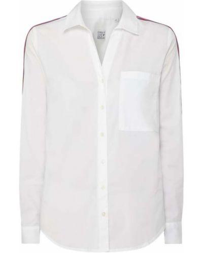 Biała bluzka w paski bawełniana Emily Van Den Bergh