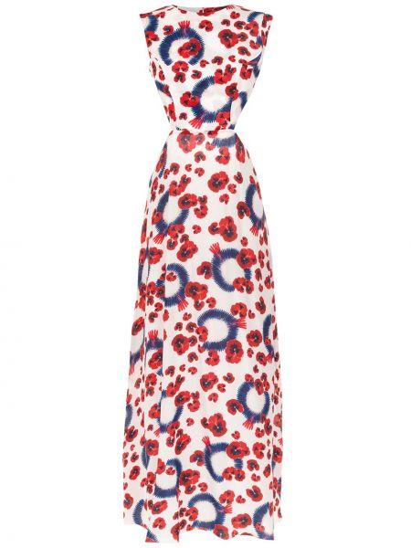 Приталенное шелковое платье мини свободного кроя с вырезом Isolda