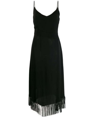 Платье миди с бахромой на бретелях Just Cavalli